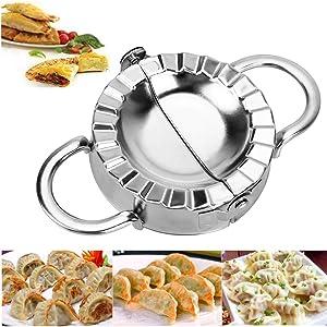 Dishwasher Safe Stainless Steel Dumpling Mould Pierogi Ravioli Empanada Maker Press - Best Kitchen Utensils Tool Wrapper Pastry Dough Cutter Kitchen Accessories (Small - (7.6cm/3''))