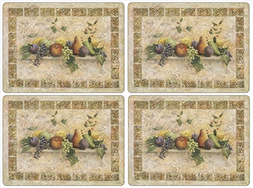 Pimpernel Tuscan Palette Placemats - Set of 4 (Large) (Palette Tuscan)