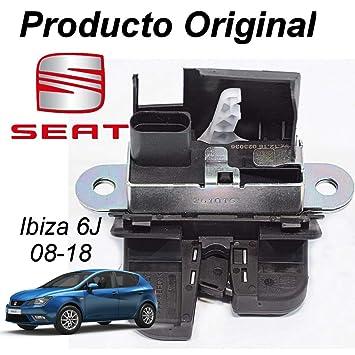 Amazon.es: Silk-Recambios Cerradura Maletero Seat Ibiza 6J (08-12) Cierre porton Original Seat