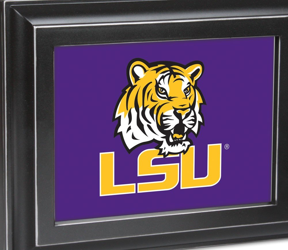 Cottage Garden NCAA Louisiana State University Tigers Distressed Black Digital Fight Song Music Box / Valet Watch Jewelry Box Plays Fight For LSU