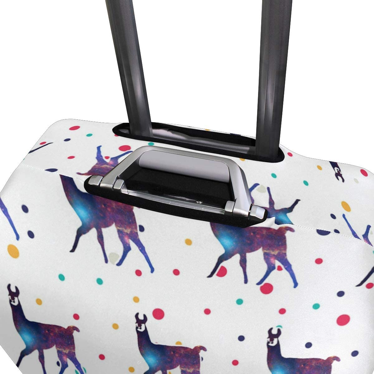 Space Llama Travel Luggage Cover Suitcase Protector HLive Spandex Dust Proof Covers with Zipper Fits 18-32 inch