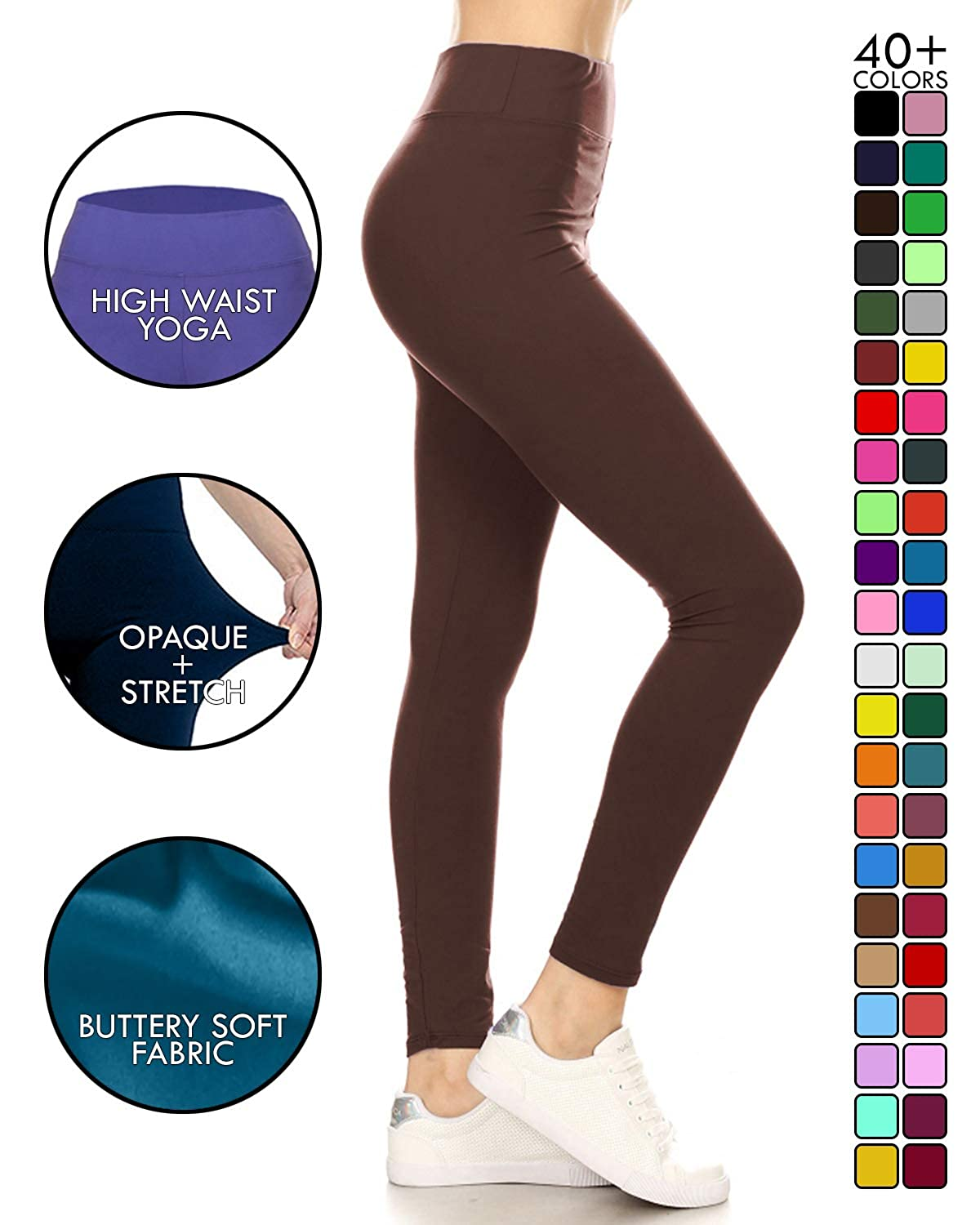 9814890c1454b8 Leggings Depot High Waisted Leggings - Buttery Soft Yoga Waisted - 40+  Colors at Amazon Women's Clothing store: