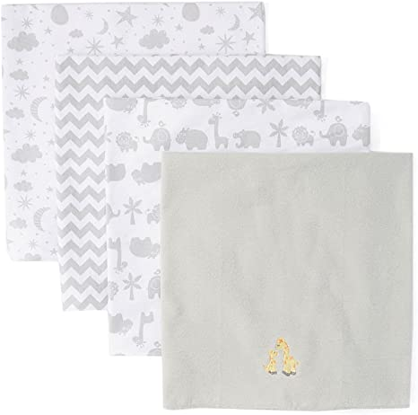 Spasilk Unisex Baby 4 Pack 100/% Cotton Flannel Receiving Blanket /— Baby Boy or Baby Girl Shower Gift