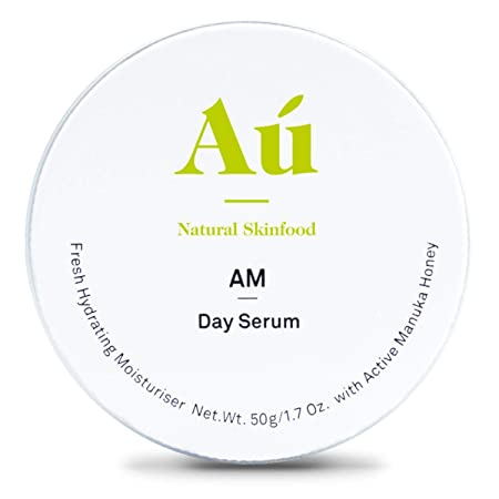 AM Day Serum by Au Natural Skinfood Fresh all-day protection Moisturiser with 16 Manuka Honey Certified Food For Your Skin All Skin Types 1.7 oz