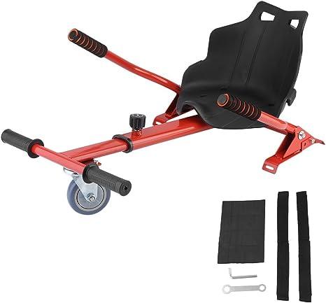 Homgrace Hoverkart para Patinete Eléctrico, Silla Self Balancing Scooter Hoverboard Kart Universal 6,5, 8, 10 Polegadas (Rojo): Amazon.es: Deportes y aire libre