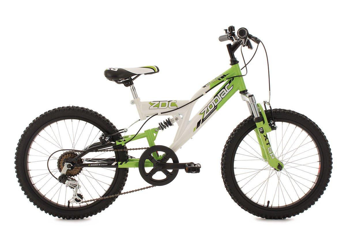 KS Cycling Jungen Fahrrad Kinderfahrrad Mountainbike Fully Zodiac, Weiß, 20, 600K