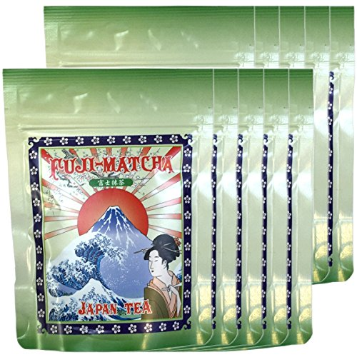 Japanese Tea Shop Yamaneen Powdered Green Tea Mattcha Powder Fuji 50G x 10packs by Japanese Tea Shop Yamaneen
