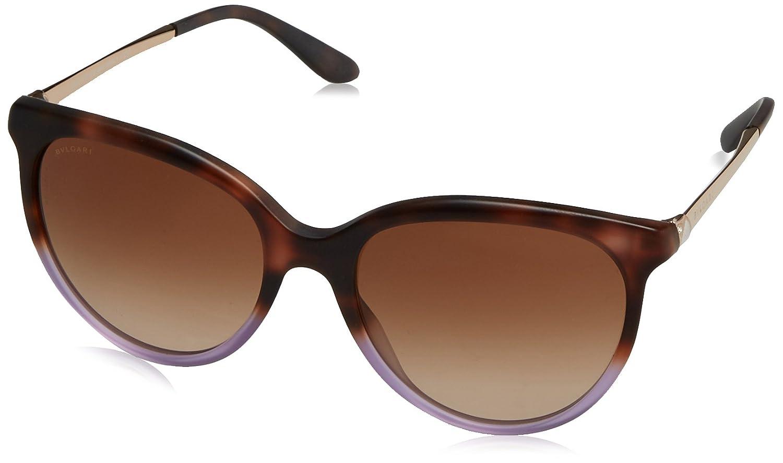 Bvlgari Unisex-Erwachsene Sonnenbrille 8161, Braun (Brown Havana Gradient), 56