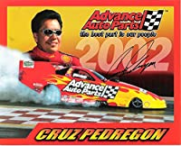 "CRUZ PEDREGON ""THE CRUZER"" 3 Time Winner NHRA U.S. Nationals Signed 10 x 8 Color Promo - Autographed Sports Photos from Sports Memorabilia"