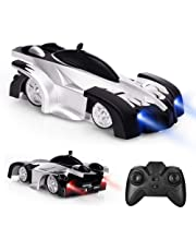 Electric Wall Climber Climbing RC Car, Remote Control Car, Dual Mode 360°Rotating Stunt Car with Remote Control, Head and Rear LED Lights, USB Cable, Boy Kid Toys, Zero Gravity Car for Kids