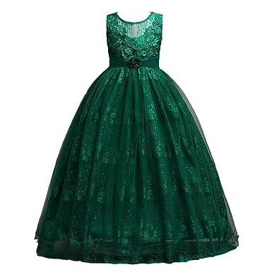 870777256b724 子供ドレス ロングドレスガールズドレス 女の子ドレス ワンピース 花付き フォーマルドレス シフォン 発表会