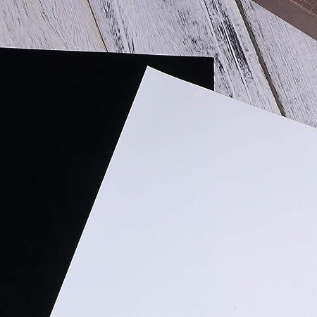 HEALLILY htv de vinilo de transferencia de calor en blanco y negro para camisetas papel de película de transferencia para carteles de muebles de ropa de bricolaje 6 piezas: Amazon.es: Hogar