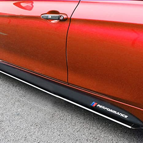 Performance Side Skirt Carbon Vinyl Decal Fiber Stickers Sport Badge For BMW M !