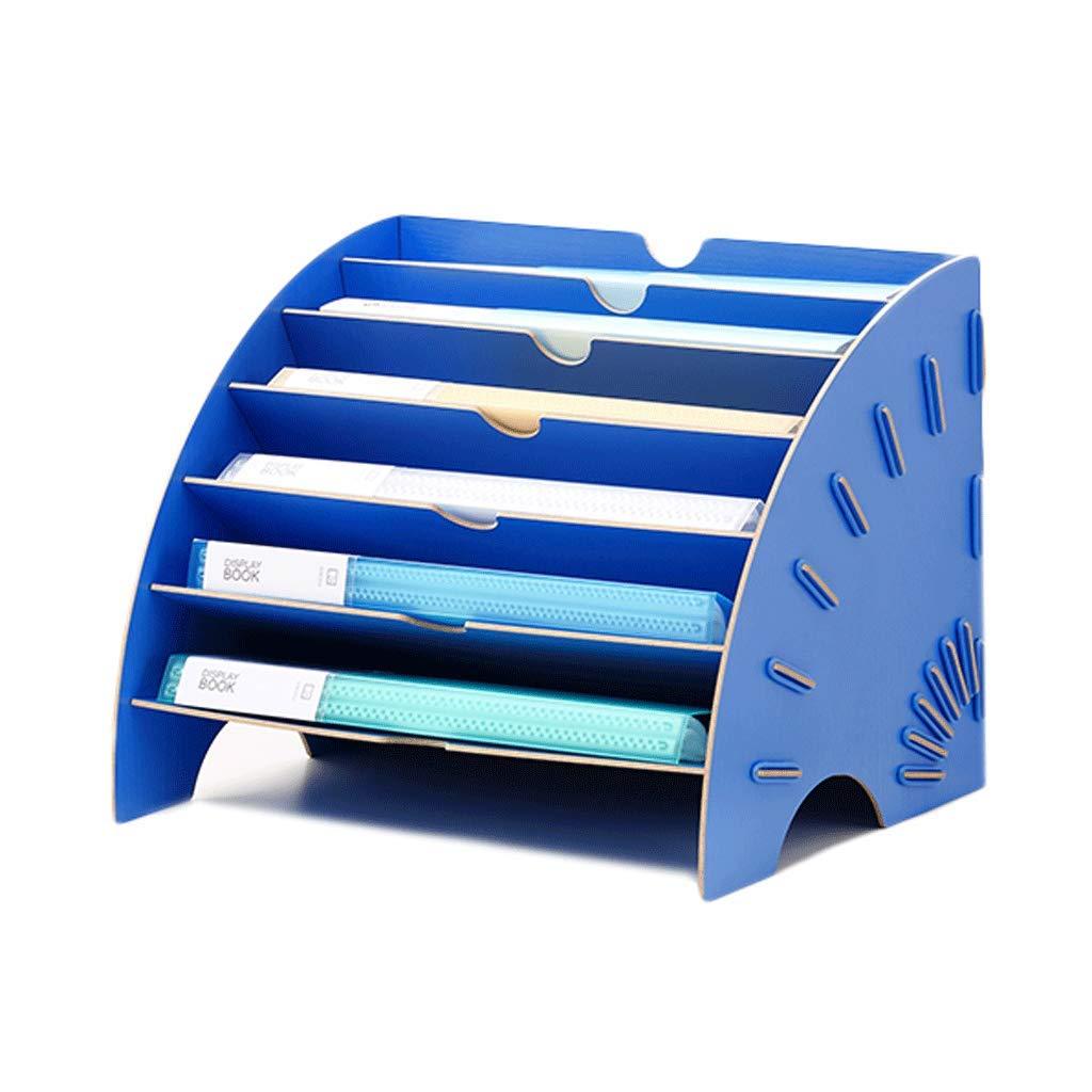 Portafiltro Caja de Almacenamiento de Escritorio de Madera para Oficina Estante Estante Oficina de Archivo de Datos Multicapa (Color : E) c8d82d