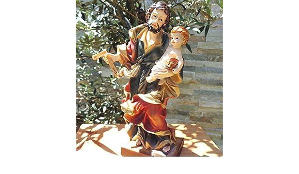 Carpinteros Mini Ölbaum Premium decorativa y de Belén de la Estatua de la St Joseph de Nazaret bolígrafo con soportes Nazaret Pull Padre de Jesús con niño ...