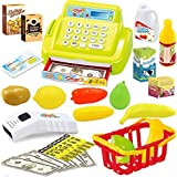 YOOMUN 26pcs Baby Educational Toy Pretend Play Register & Scanner Supermarket Cash Desk Baby Intelligence Toys Gift