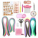 Lantee Quilling Supplies - 20 Sets of Quilling Paper Kits Include 8 Pack of 3mm 960 Quilling Paper Strips and 12 Quilling Tools