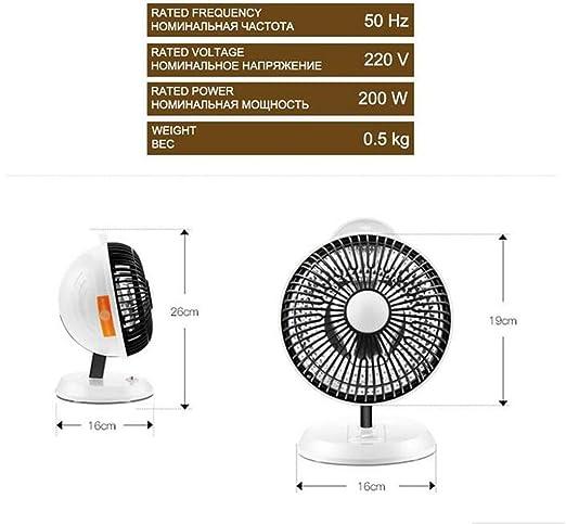 Calefactor Mini Calentador Eléctrico 200W para Oficina Escritorio Calentador de Aire Pequeño Calentador Calentador Eléctrico Mini Calentador Portátil: ...