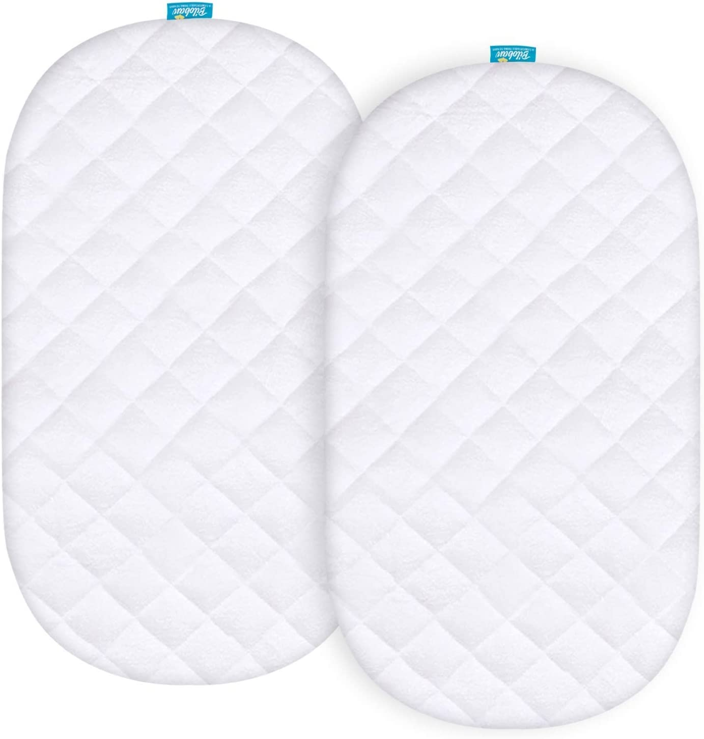 Bassinet Bedding Baby Quilted Mattress Cover and 100% Jersey Knit ...