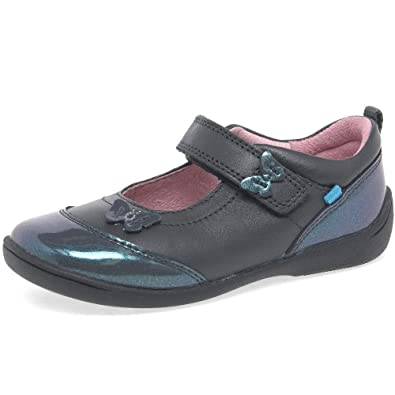 a05bb89478df8 Startrite Swing 2 Girls Infant Leather Mary Jane Rip Tape Shoes 7 F  Gunmetal Mix