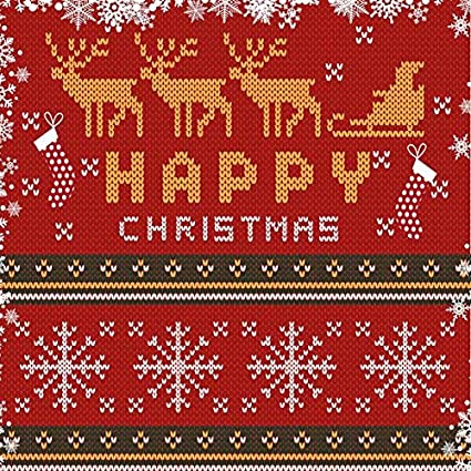 Christmas Sweater Background.Funnytree 10x10ft Christmas Ugly Sweater Party Backdrops For Photography Xmas Winter Knitting Reindeer Background Snowflake Tacky Red Kids Decorations