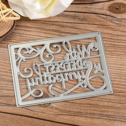 Metal Cutting Dies Stencils DIY Scrapbooking Embossing Album Paper Card Craft Decor set135 - Monogram Embroidery Stamp
