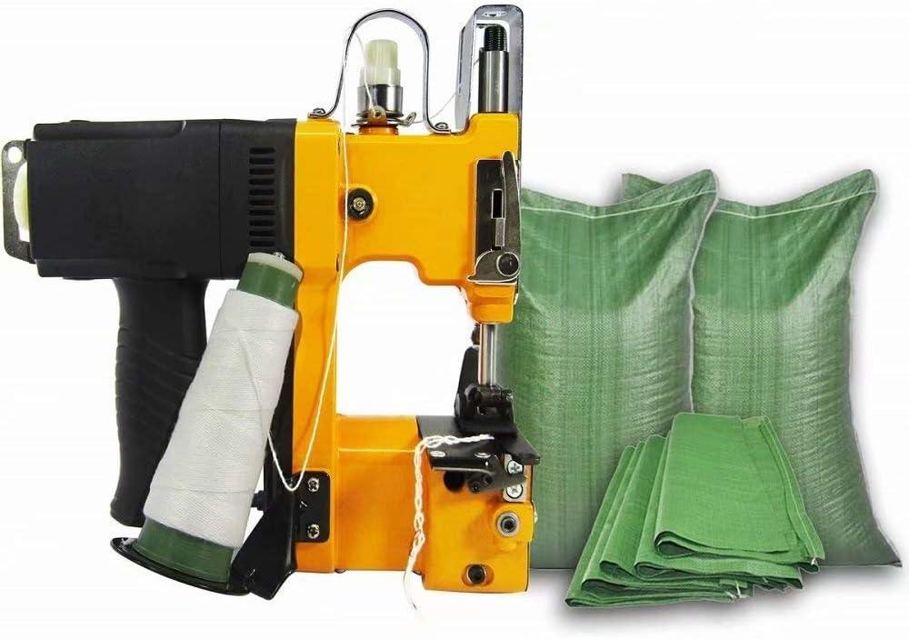 HANMIAO Máquina De Coser Electrónica Grapadora Eléctrica Portátil De Punto Bolsa De Sellado De Cierre Embalaje Mini-Pistola De Alta Velocidad De La Máquina: Amazon.es: Hogar