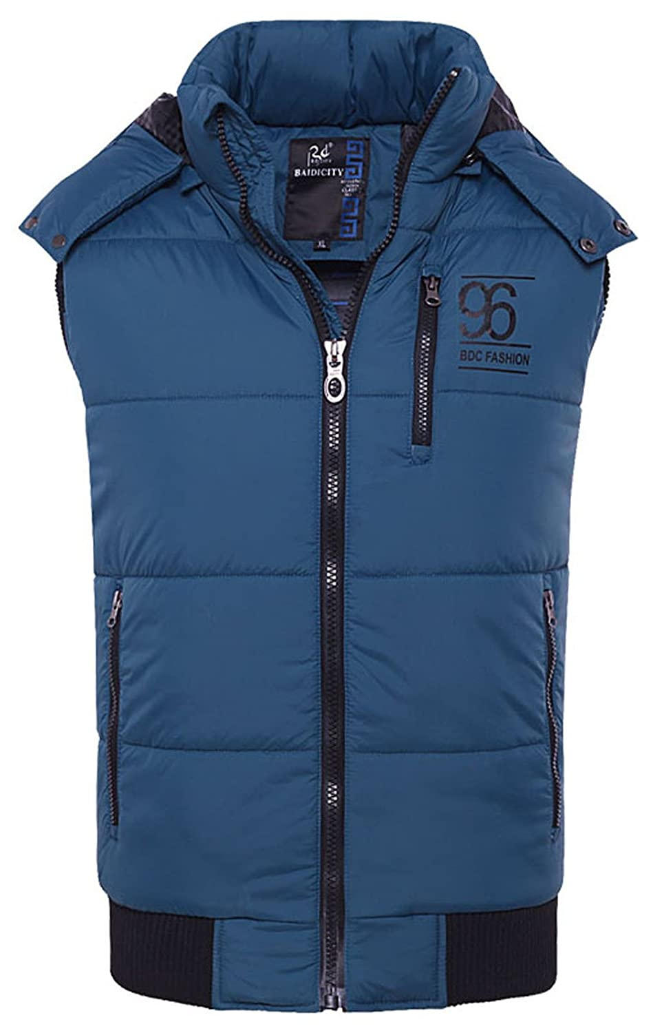 Boy's Front-Zip Casual Hooded Outwear Water & Wind Resistant Vest