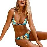 Bikinis Mujer 2019 Push Up, Zolimx Impresión Acolchado Sujetador Beach Bikini Set Traje de Baño Bañador Mujeres Sexy Correas Swimsuit de Estampado de Leopardo