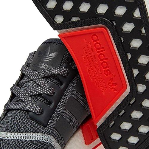 Adidas Mens Nmd_r1 Antracite / Nylon Bianco-nero Taglia 10.5