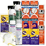 MOTH KILLER KIT for Clothes Moths by Moth-Prevention - Large Infestation