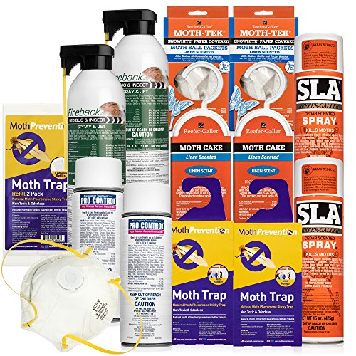 MOTH KILLER KIT for Clothes Moths by Moth-Prevention - Large Infestation by West Bay Retail