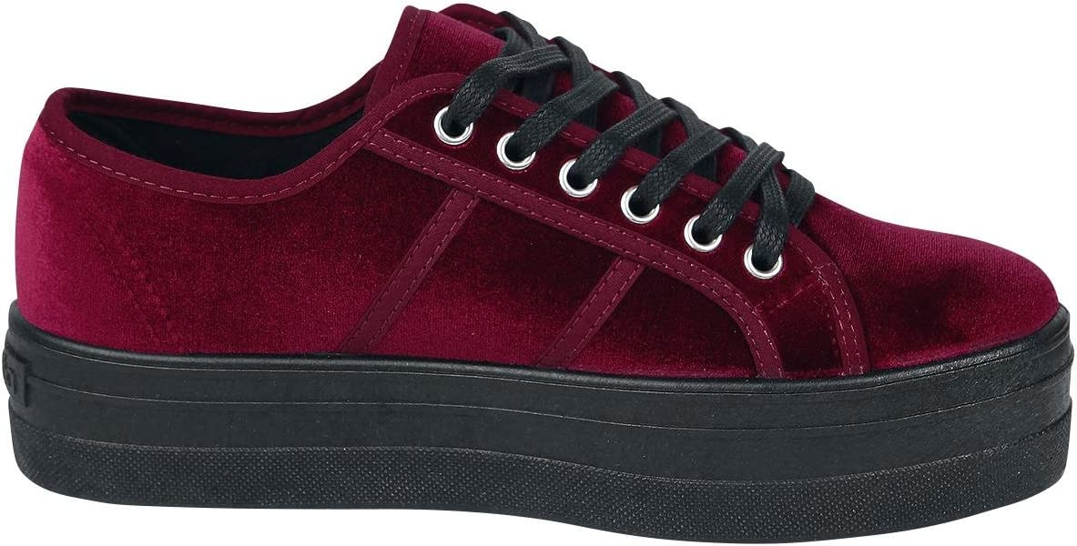 Victoria Basket Terciopelo Sneakers voor dames Red Burdeos 41