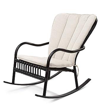 XUE Mecedora, sillón cómodo Relax reclinable Tela de algodón ...