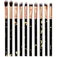 10pcs Mármol Cosmética Maquillaje Pinceles Set Profesional Maquillaje Pinceles Sombra de ojos Eyeliner Brow Brush…