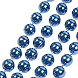 Outsta Mini Balls Ornaments Christmas Tree Decoration Hanging Baubles Set with String,Hanging Ball for Festival Holiday Wedding Party Christmas Decoration 1Pcs (106.3×0.3'', Blue)