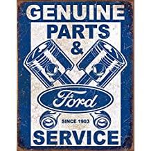 Ford Service - Pistons Tin Sign 13 x 16in