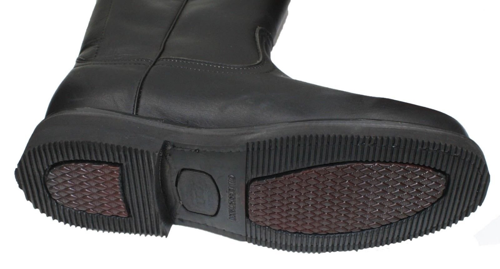 Dona Michi Men's Work Boots Pull On Leather Oil Water Slip Resistant Black 8.5 by Dona Michi (Image #2)