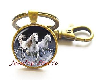 Regalo Llavero, Vintage Running caballo llavero llaveros de ...