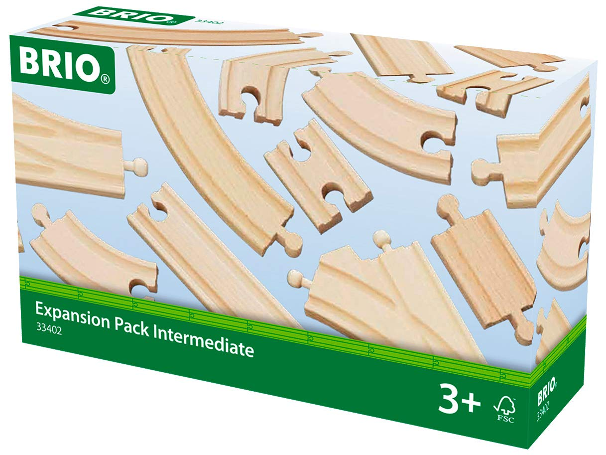 BRIO World 33402 Expansion Pack Intermediate   Wooden Train Tracks for Kids Age 3 and Up