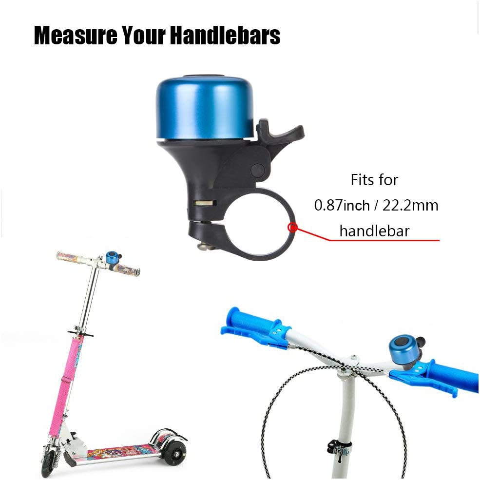 7 Colors Bicycle Bell for Kids Girls Boys REKATA 2 Packs Aluminum Bike Bell