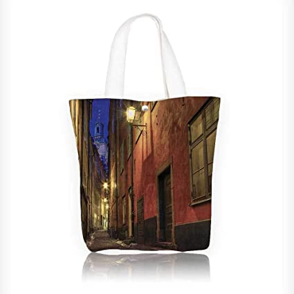 d42985c1025a Amazon.com: Women's Canvas Tote Handbags At Night in the Alley in ...