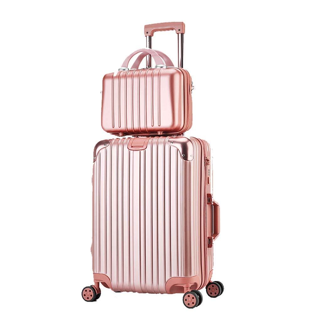 ファッションチャイルドパッケージキャビンスーツケースユニバーサルホイール搭乗荷物荷物スーツケース20インチ24インチ26インチ29インチ-Rosegold-S B07T497BBY Rosegold S(20in)
