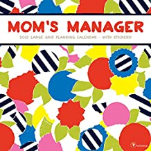 Mom's Manager 2018 Large Grid Planning Calendar: With Stickers
