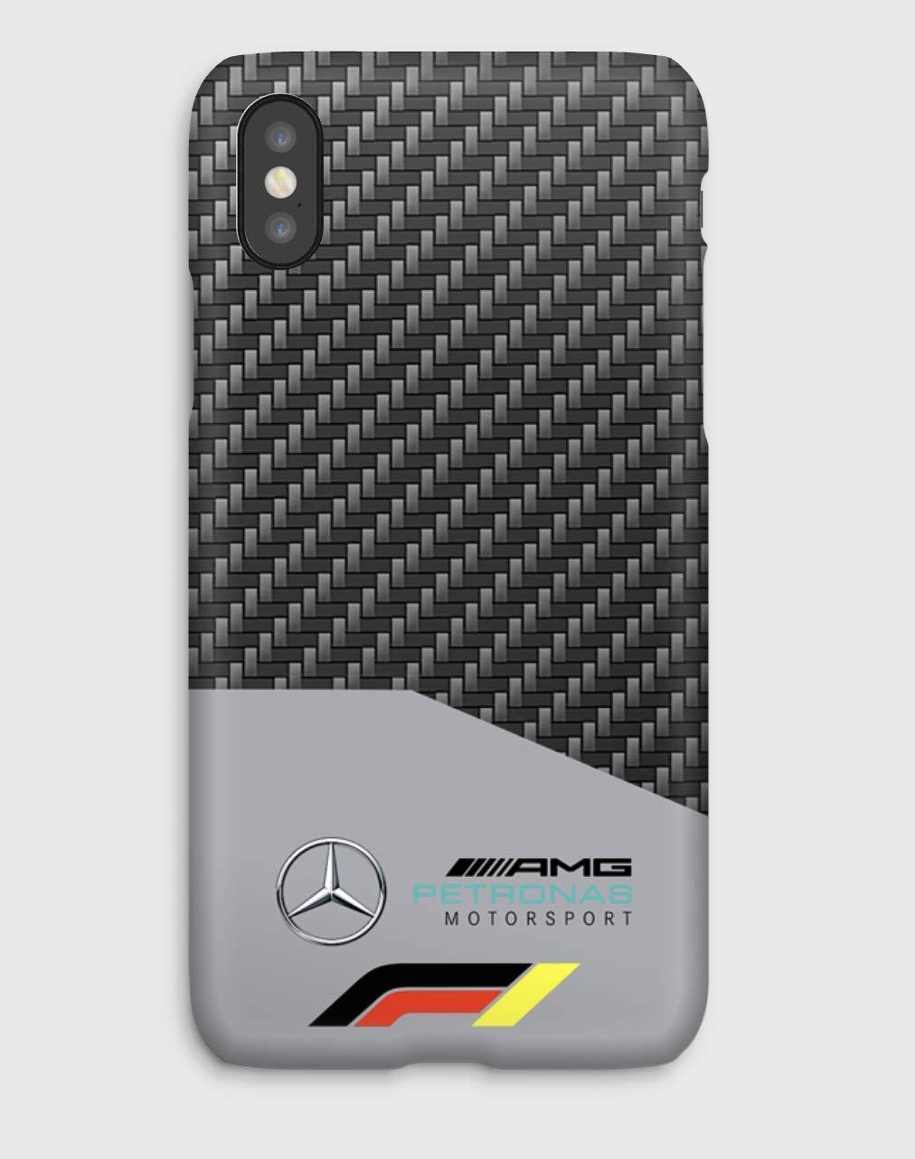 F1 Mercedes Funda para el iPhone XS, XS Max, XR, X, 8, 8+, 7, 7+, 6S, 6, 6S+, 6+, 5C, 5, 5S, 5SE, 4S, 4,