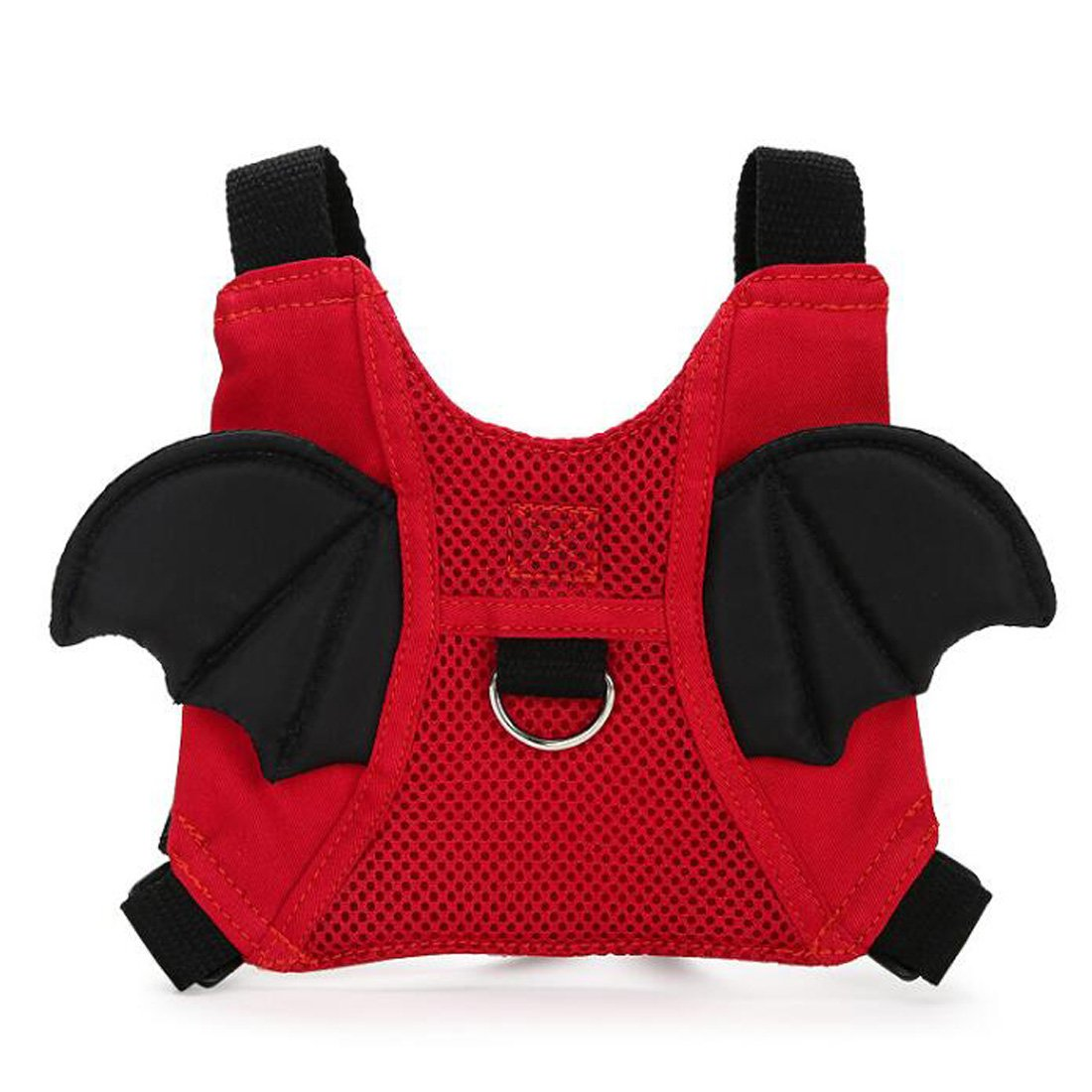 EPLAZA Toddler Walking Safety Bat Belt Harness with Leash Breathable (cotton red) by EPLAZA (Image #1)