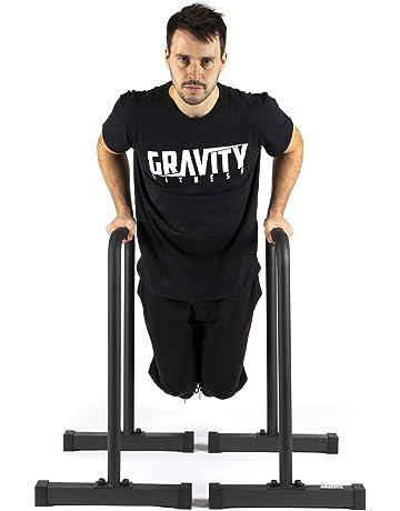 Gravity Fitness XL Pro Parallettes 2.0 - Nuevas manijas de 38 mm - Barras de inmersión