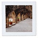 3dRose Danita Delimont - Architecture - Archway at Mission San Jose, Texas - 16x16 inch quilt square (qs_260119_6)