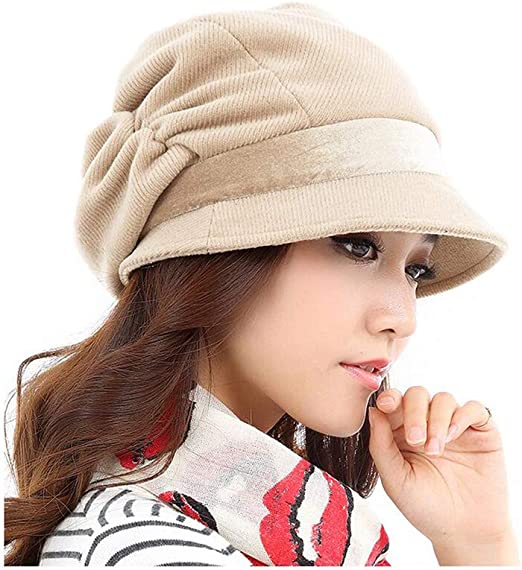 Sombreros y gorras XUERUI Boina Sombrero Señoras Chicas Octagonal ...