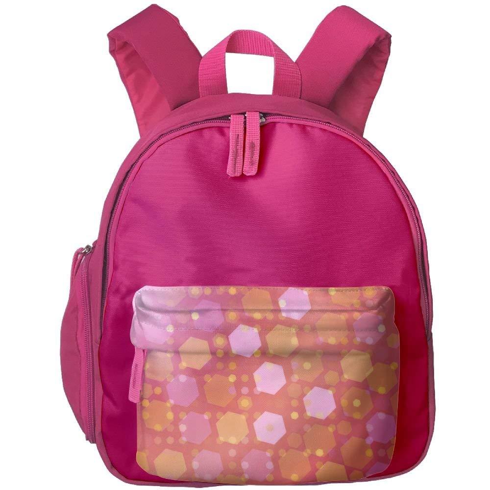 Hexagon Shapes Smooth Colour Print Children's Fashion Backpack School Bookbag 3.9 X 10.6 X 12.5 inch